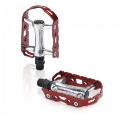 Πετάλια ποδηλάτου αλουμινίου XLC Ultralight Κόκκινα