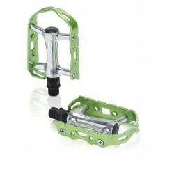 Πετάλια ποδηλάτου αλουμινίου XLC Ultralight Πράσινα