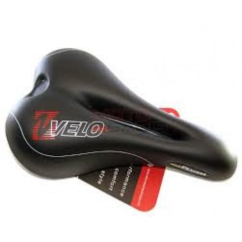 Σέλα ποδηλάτου Velo Plush Gel αντρική, μαύρη