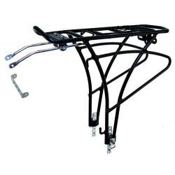 Σχάρα ποδηλάτου οπίσθια αλουμινίου 24''-29'' Μαύρη
