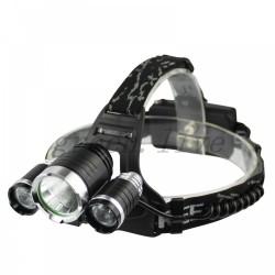 Φακός κεφαλής με 3 power LED XM-L T6