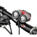 ΦΑΝΆΡΙ ΕΜΠΡΌΣΘΙΟ ΠΟΔΗΛΆΤΟΥ Hi-Tech LED Bike light CREE XM-L T6 1800lm incl. 4800mAh battery, silicon rings and charger