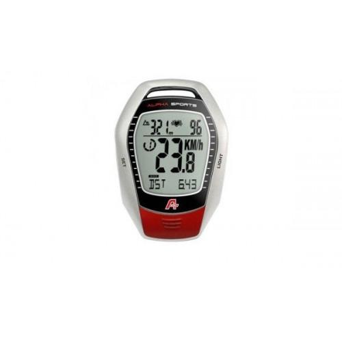 Κοντέρ Ποδηλάτου Alpha Sports po-338 with heart rate