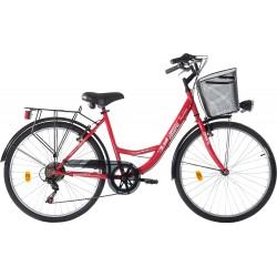 """Ποδήλατο Πόλης Orient City Lady  26""""  6-Speed κωδ. 151090- ΚΟΚΚΙΝΟ"""