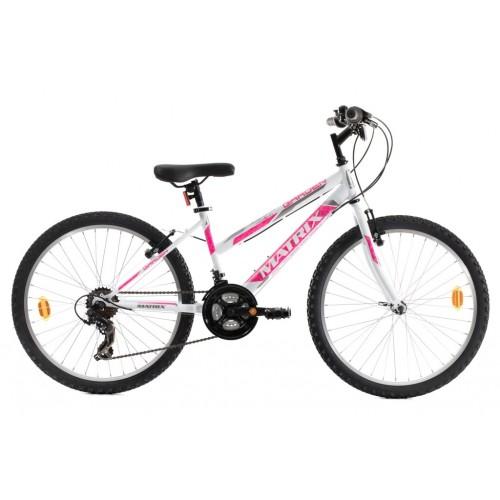 Ποδήλατο MATRIX GARDEN 24″ WHITE, PINK