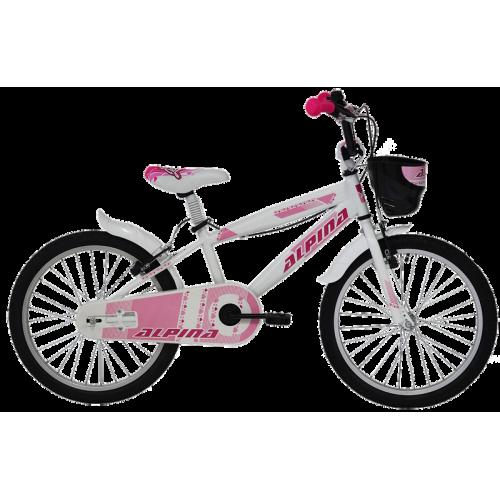"""Ποδήλατο παιδικό Alpina Girls 18"""" 2019  WHITE"""
