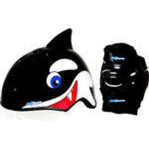 Σετ Παιδικό Κράνος και επιγονατίδες KIDZAMO ORCA